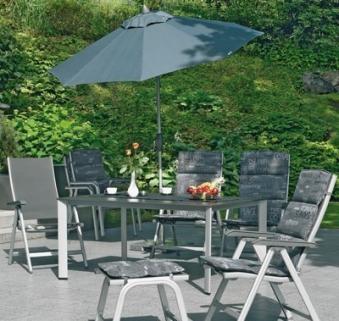 KETTLER Gartenhocker Basic Plus 0301203-000 silber/anthrazit Alu Bild 2