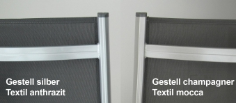 KETTLER Gartenhocker Basic Plus 0301203-000 silber/anthrazit Alu Bild 3