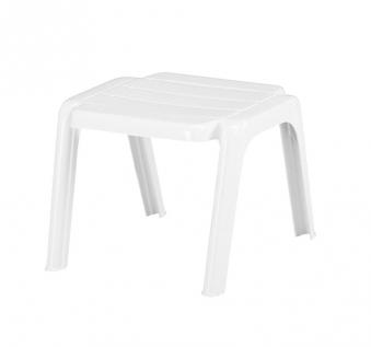 KETTLER Gartenhocker Rimini 01093-000 stapelbar weiß Kunststoff Bild 1