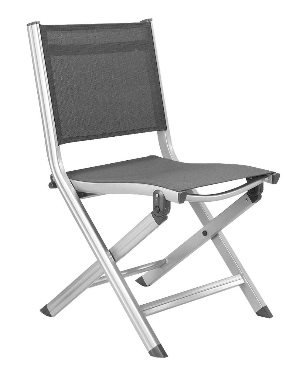 Gartenstühle klappbar  KETTLER Gartenstuhl Basic Plus 0301218-000 klappbar silber/anthr ...
