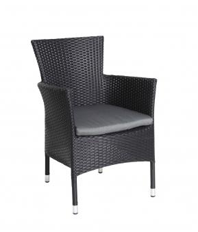 korbsessel gartensessel cesar geflecht schwarz bei. Black Bedroom Furniture Sets. Home Design Ideas