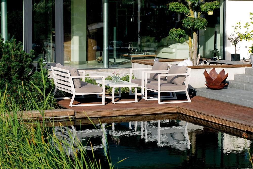 Gartensessel lounge  Lounge Sessel / Gartensessel Lounge Comfort Alu weiß - bei ...