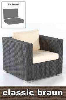 Sonnenpartner Auflage / Polster Loungesessel Residence classic braun