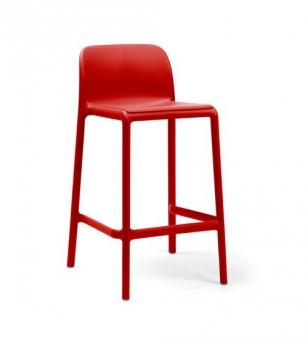 Nardi Barhocker / Barstuhl Faro Mini Stapelstuhl Kunststoff rosso Bild 1