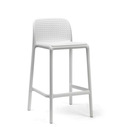 Nardi Barhocker / Barstuhl Lido Mini Stapelstuhl Kunststoff bianco Bild 1