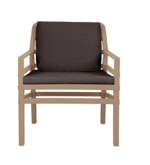 Nardi Gartensessel / Lounge Sessel Aria Kunststoff avana / caffé Bild 1