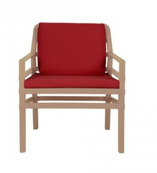 Nardi Gartensessel / Lounge Sessel Aria Kunststoff avana / cherry Bild 1
