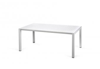 Nardi Gartentisch / Beistelltisch Aria 100 Kunststoff 100x60cm bianco