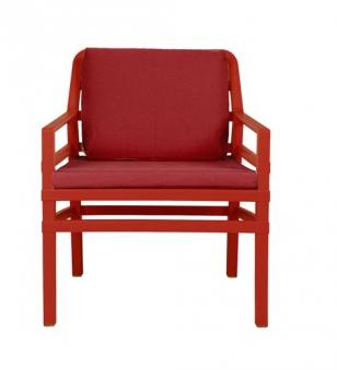 Nardi Gartensessel / Lounge Sessel Aria Kunststoff rosso / cherry Bild 1