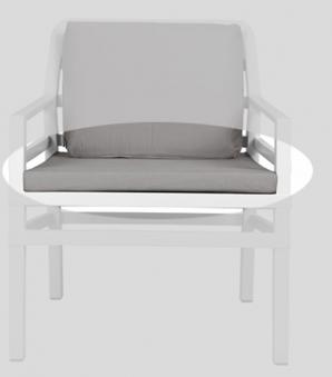 Nardi Sitzkissen / Stuhlkissen Cuscino Seduta Aria 62,5x58cm grigio