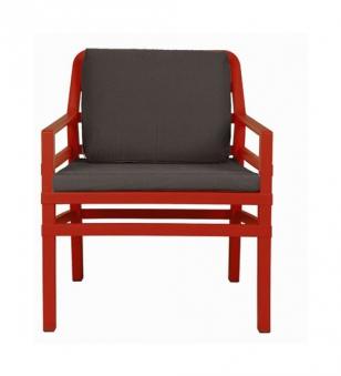 Nardi Gartensessel / Lounge Sessel Aria Kunststoff rosso / kaffee Bild 1