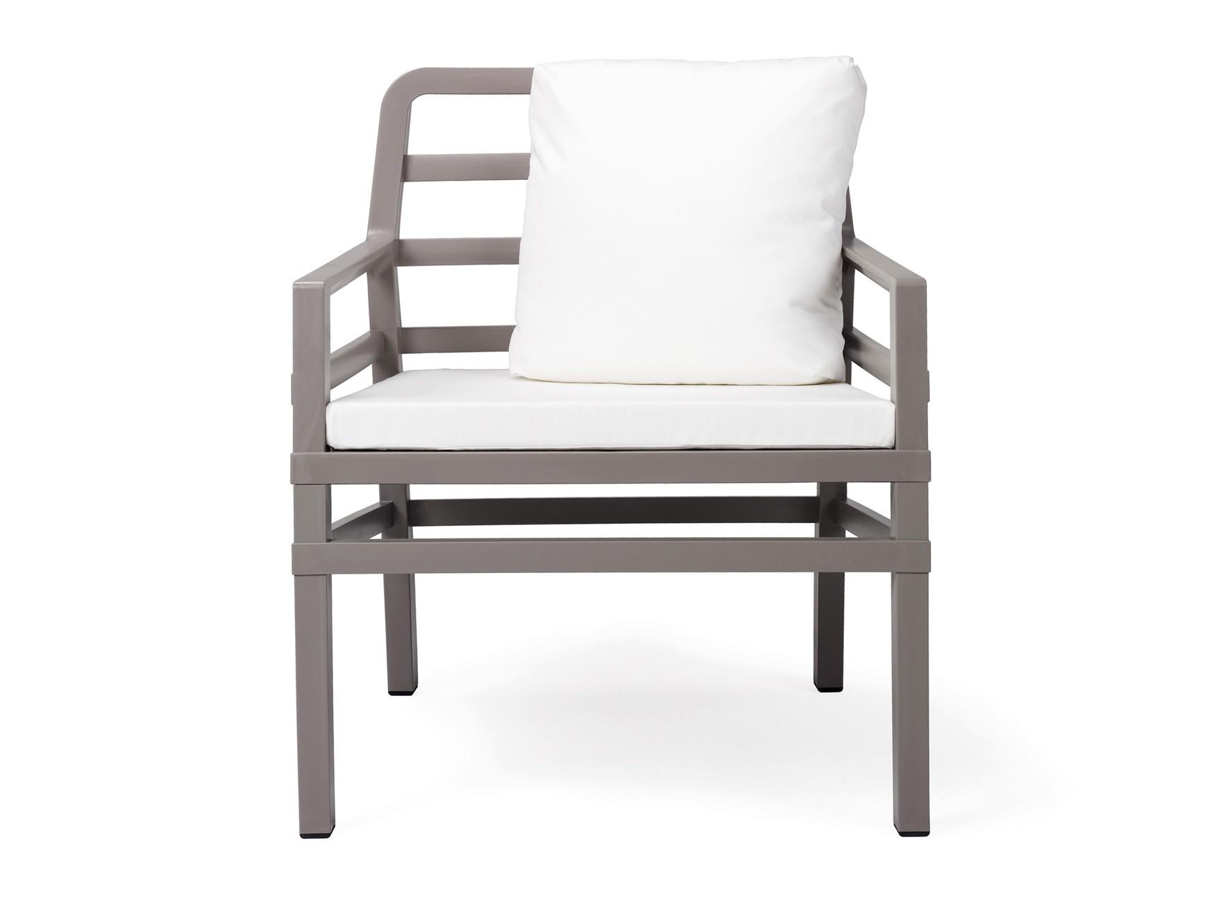 Nardi Gartensessel / Lounge Sessel Aria Kunststoff tortora / bianco Bild 1