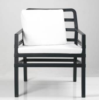 Nardi Gartensessel / Sofa Lounge Aria Kunststoff anthrazit / bianco Bild 1
