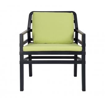 Nardi Gartensessel / Sofa Lounge Aria Kunststoff anthrazit / lime Bild 1