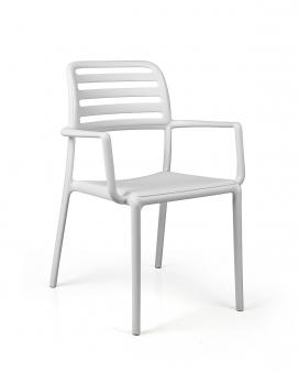 Nardi Stapelsessel / Gartensessel Costa Kunststoff bianco Bild 1