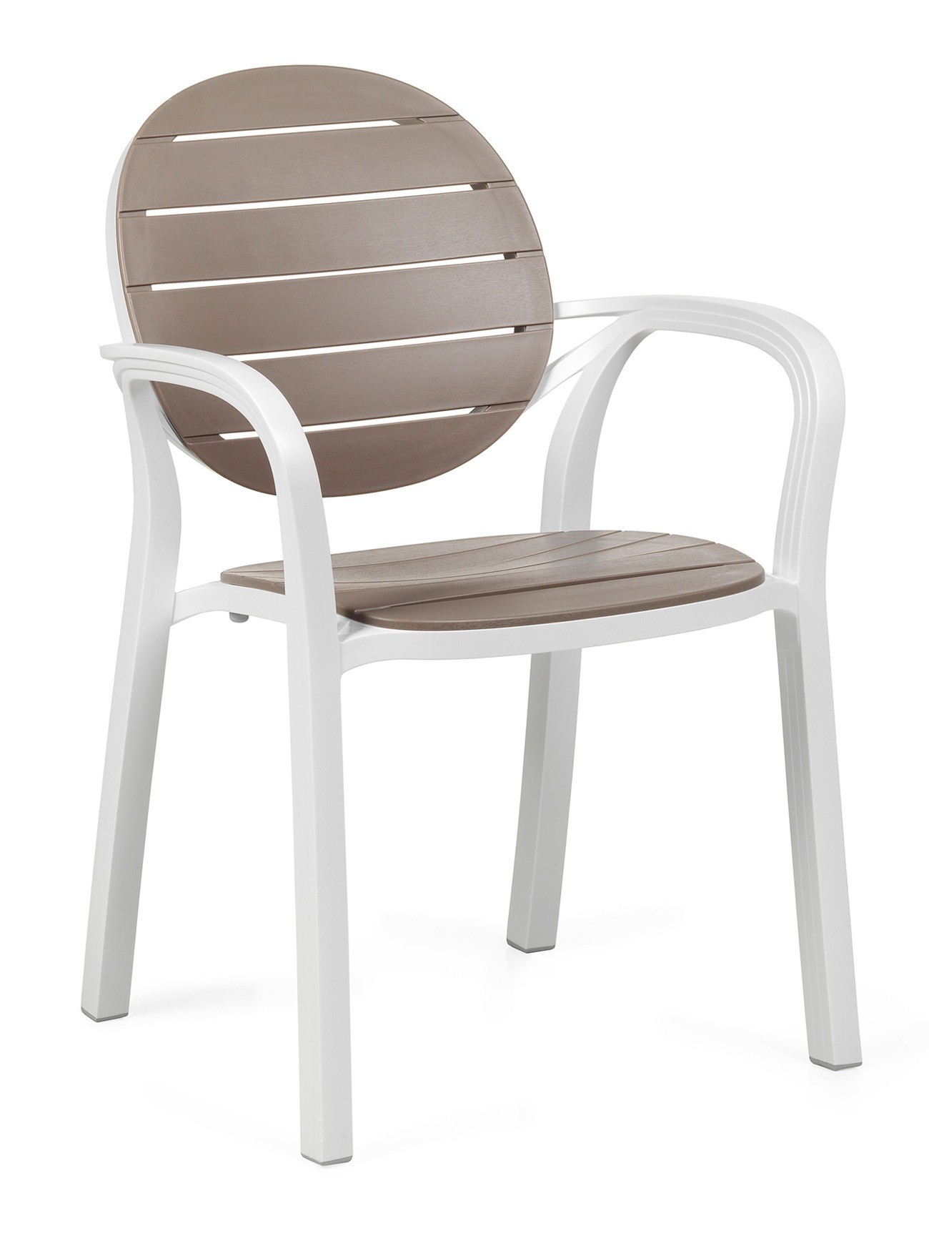 Nardi Stapelstuhl / Gartensessel Palma Kunststoff bianco / tortora Bild 1
