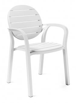 Nardi Stapelstuhl / Gartensessel Palma Kunststoff bianco Bild 1