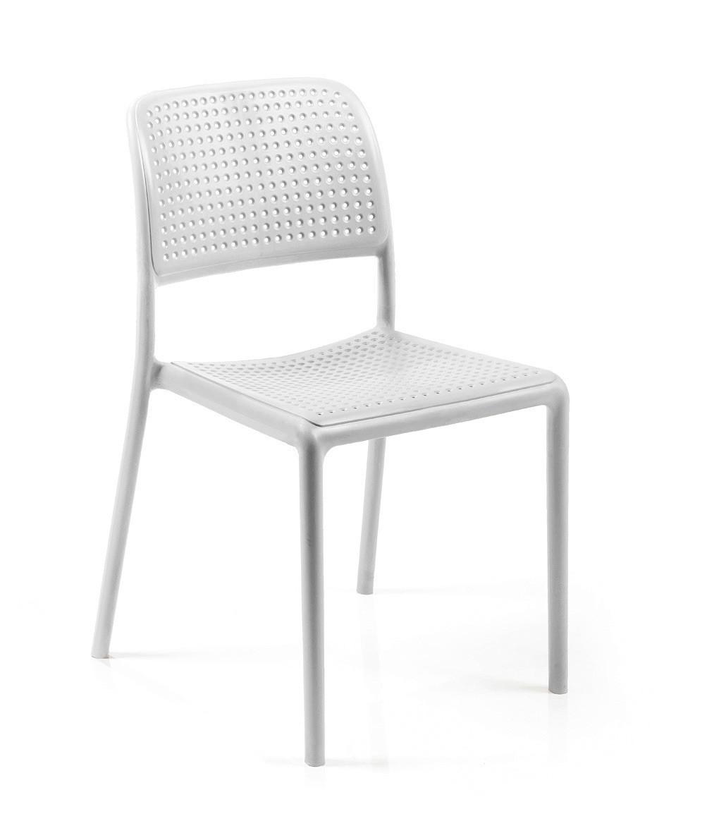 Nardi Stapelstuhl / Gartenstuhl Bora Bistrot Kunststoff bianco Bild 1