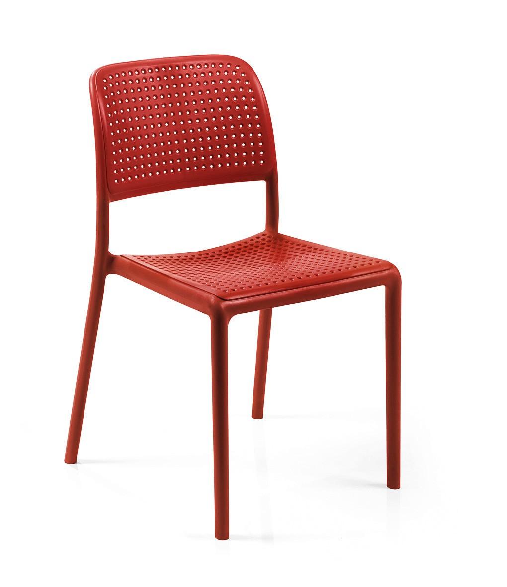 Nardi Stapelstuhl / Gartenstuhl Bora Bistrot Kunststoff rosso Bild 1
