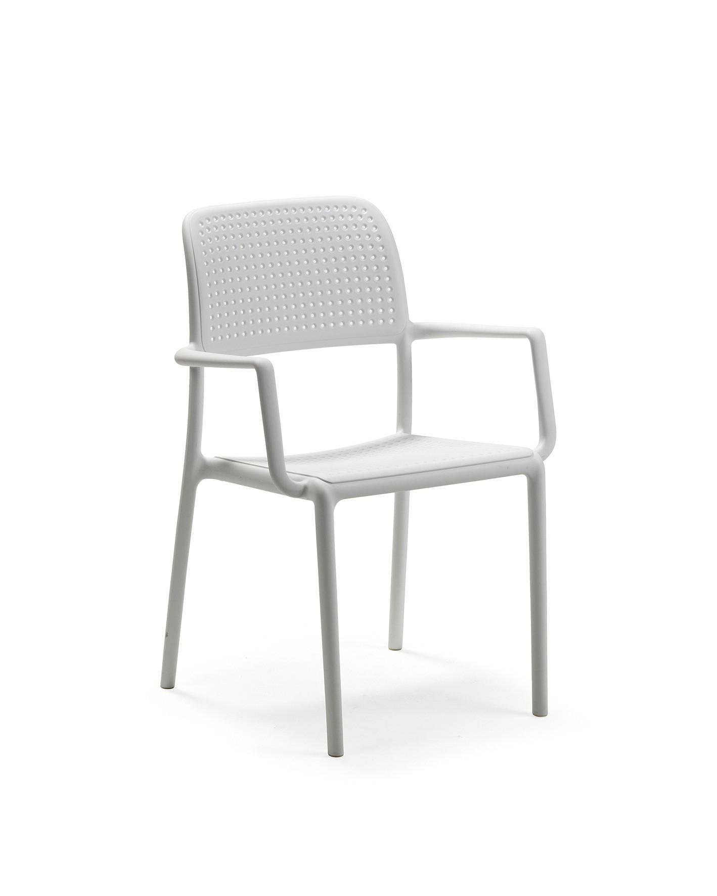 Nardi Stapelstuhl / Gartenstuhl Bora Kunststoff stapelbar bianco Bild 1