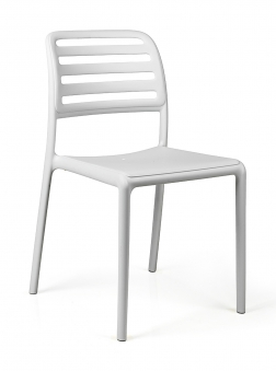 Nardi Stapelstuhl / Gartenstuhl Costa Bistrot Kunststoff bianco Bild 1