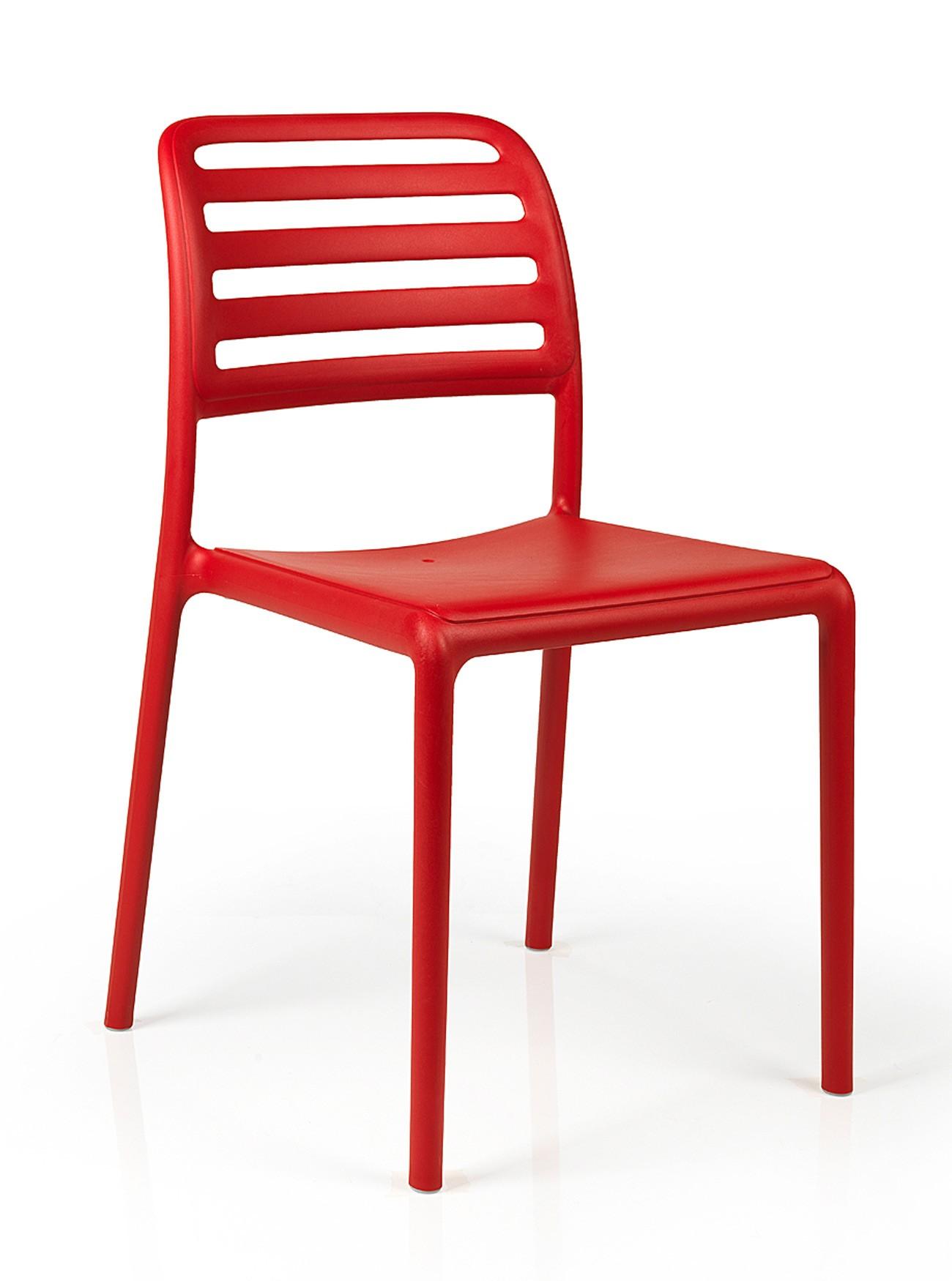 Nardi Stapelstuhl / Gartenstuhl Costa Bistrot Kunststoff rosso Bild 1