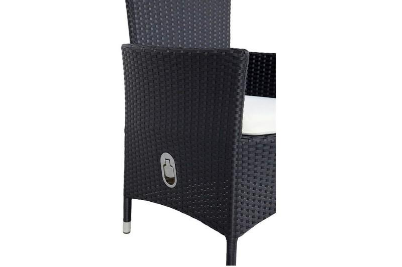 Gartenmobel Bank Mit Tisch :  2erSet Polyrattan schwarz mit Gasdruckfeder  bei edingershopsde