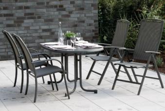 gartensessel gartenstuhl atlanta stapelbar alu anthrazit grau bei. Black Bedroom Furniture Sets. Home Design Ideas