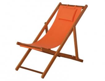 Siena Garden Liegestuhl / Strandstuhl Faro Hartholz / Textil orange Bild 1