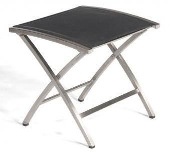 Sonnenpartner Gartenhocker Paragon klappbar Edelstahl/Textil schwarz Bild 1