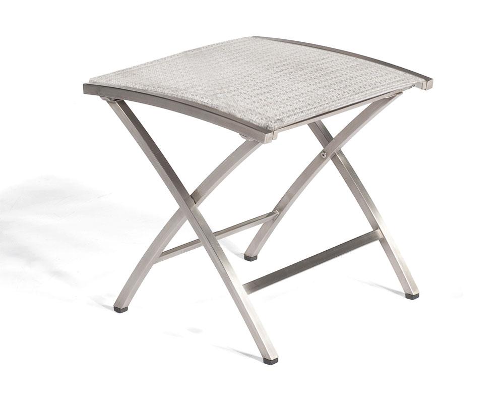 Sonnenpartner Gartenhocker Paragon klappbar Edelstahl/Textil silbergr. Bild 1