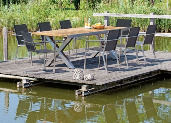 Sonnenpartner Gartensessel Freischwinger Platinum Edelstahl schwarz Bild 2