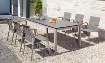 Sonnenpartner Gartenstuhl stapelbar Sierra Alu champagner/taupe Bild 2