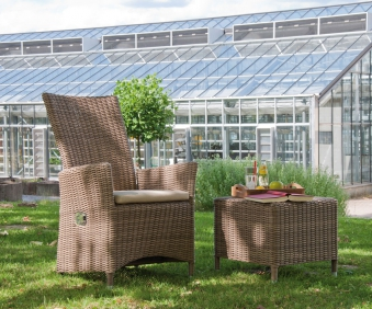 Sonnenpartner Korbhocker / Gartenhocker Solares rustic-stream Bild 2