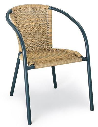 Stapelsessel / Gartensessel Comfort Best Bestolan-Geflecht natur Bild 1