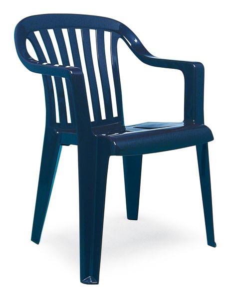 Stapelsessel Gartenstuhl Gartensessel Memphis Best Kunststoff blau Bild 1