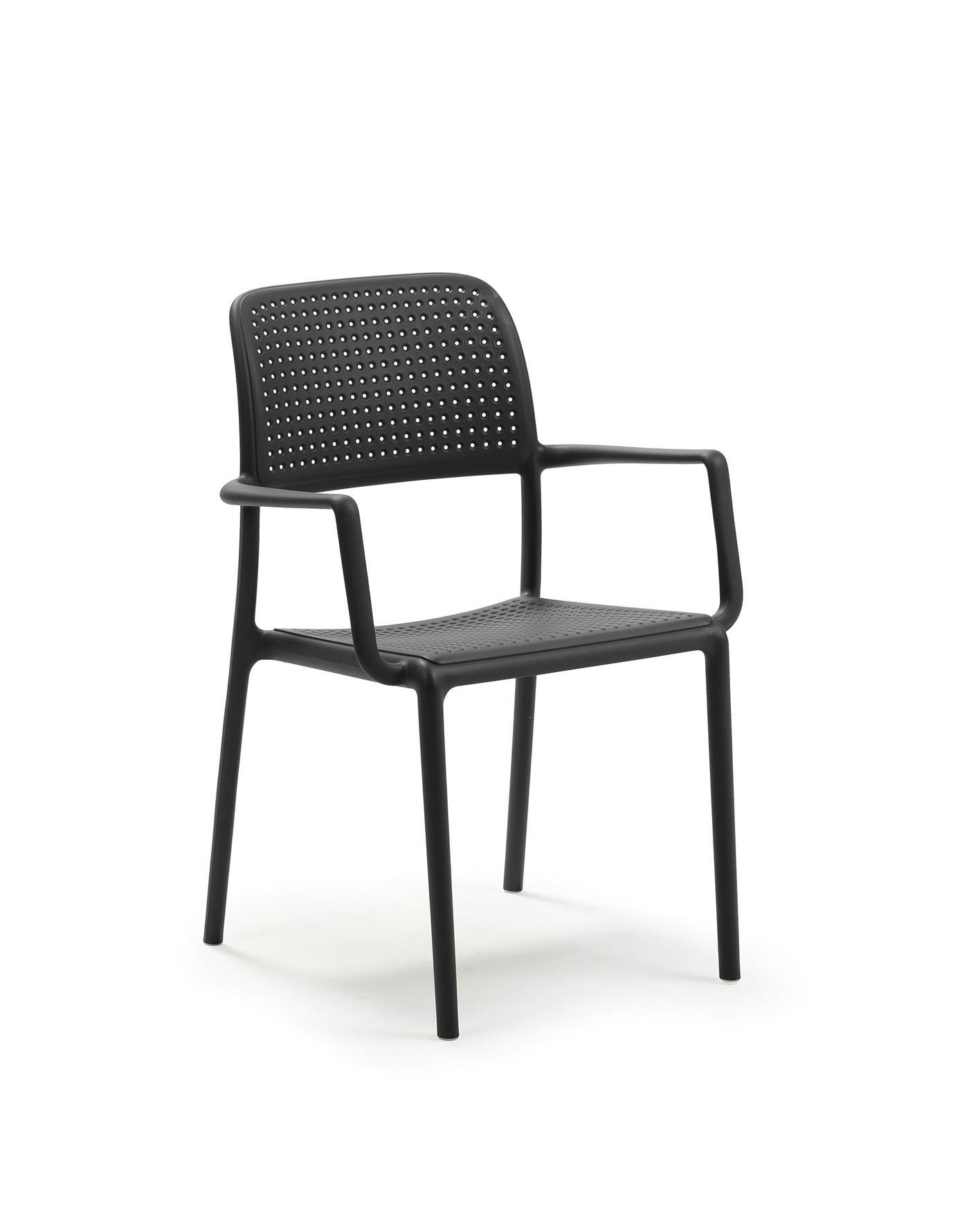 stapelstuhl gartenstuhl bora kunststoff stapelbar anthrazit bei. Black Bedroom Furniture Sets. Home Design Ideas