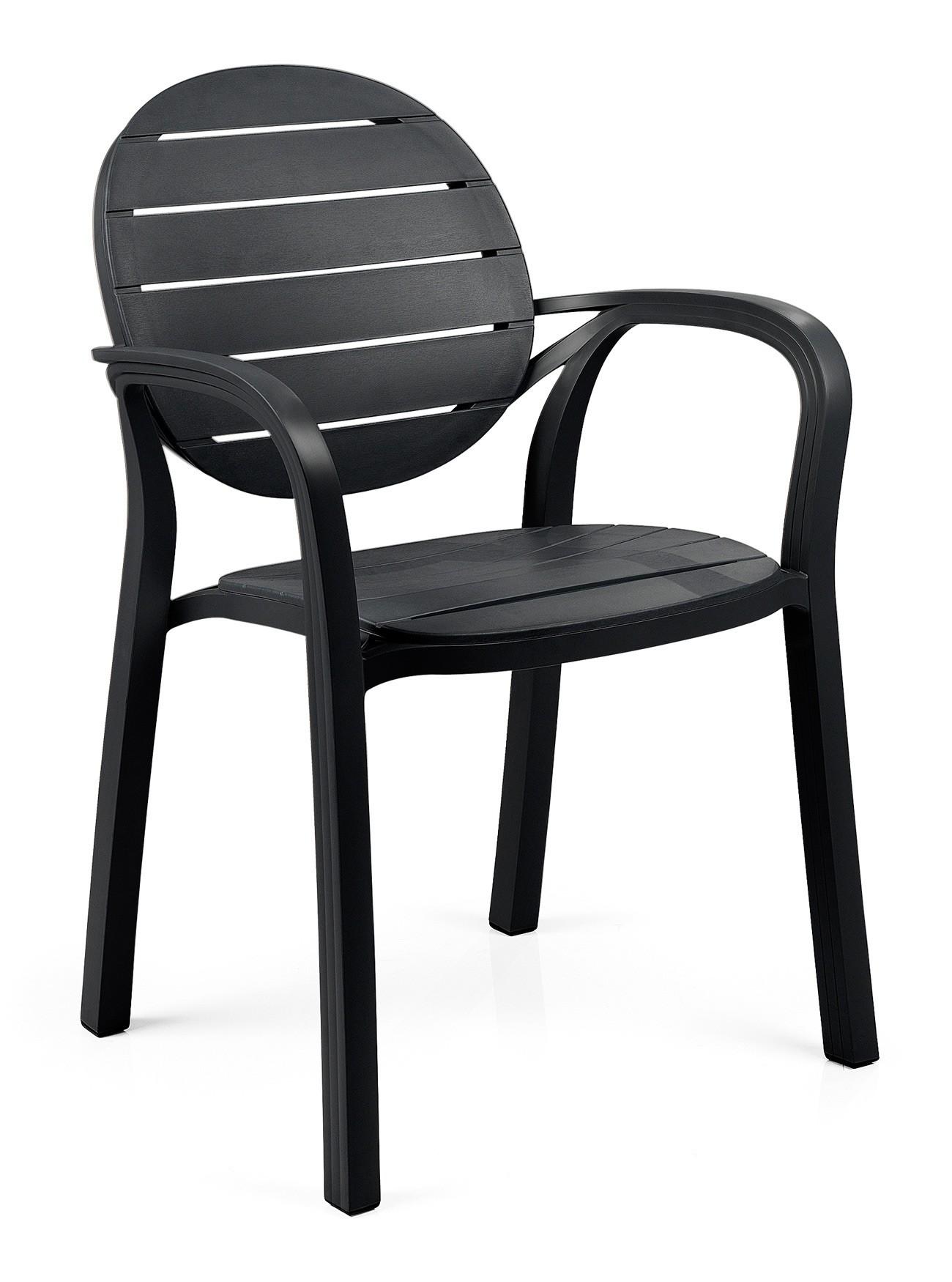 stapelstuhl gartenstuhl palma kunststoff stapelbar anthrazit bei. Black Bedroom Furniture Sets. Home Design Ideas