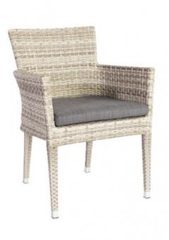 sung rl gartensessel deluxe stapelbar polyrattan mixed grey bei. Black Bedroom Furniture Sets. Home Design Ideas