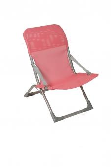 Sungörl Kinderliegestuhl / Gartenstuhl Susy Baby Stahl grau / pink Bild 1