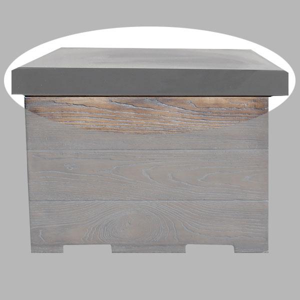 Clifton Abdeckplatte / Tischplatte für Terrassenfeuer Standard grau Bild 1