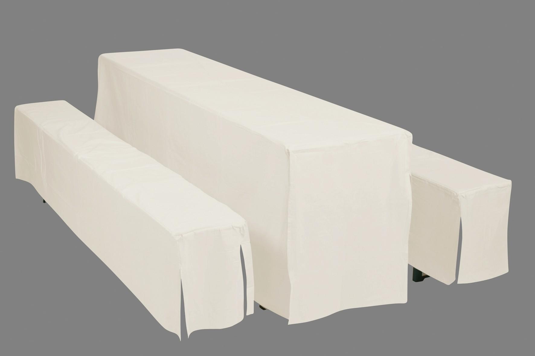 hussen auflagen f r bierzeltgarnitur festzeltgarnitur 50cm natur bei. Black Bedroom Furniture Sets. Home Design Ideas