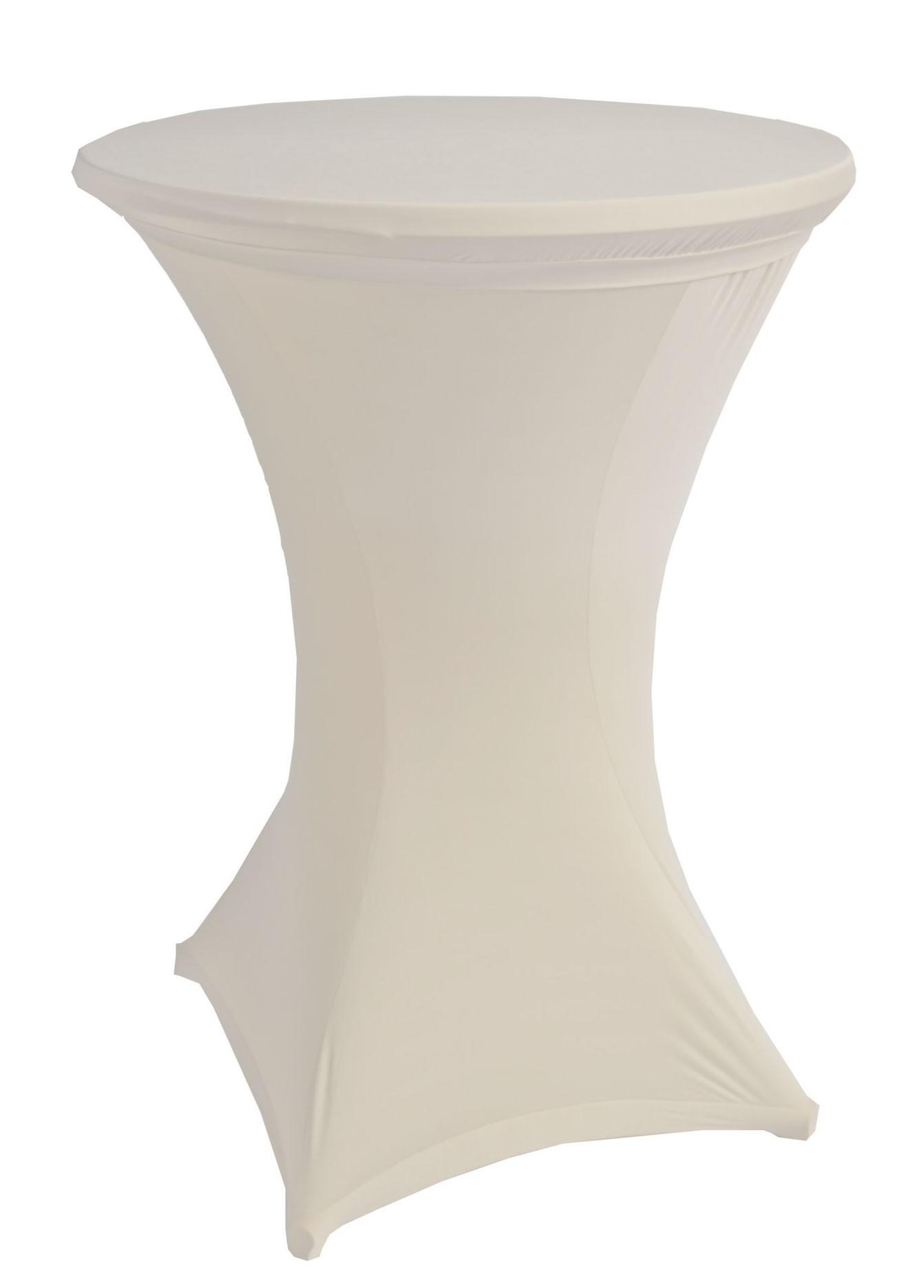 Stehtischhussen beo Ø90cm Stretch weiß PY001 Bild 1