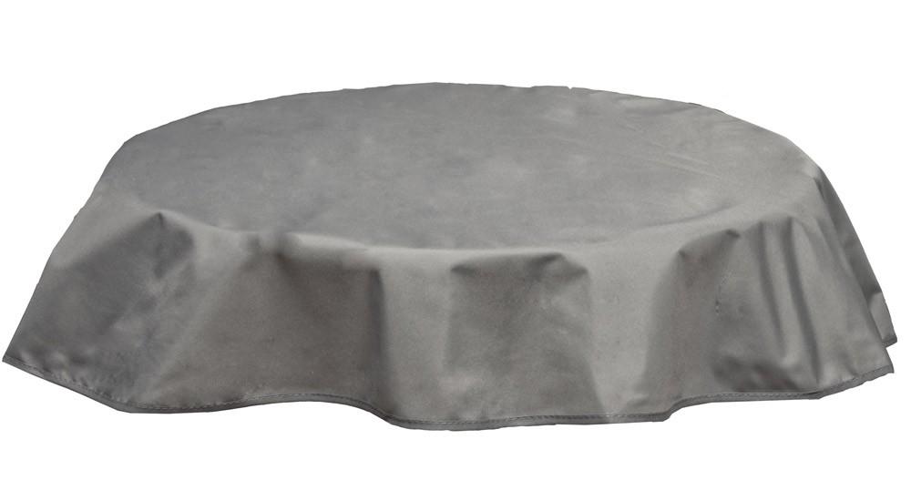 Tischdecke Beo Polyester wasserabweisend Ø120cm Des. PY301 hellgrau Bild 1