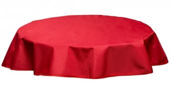 Tischdecke Beo Polyester wasserabweisend Ø120cm Des. PY305 rot Bild 1