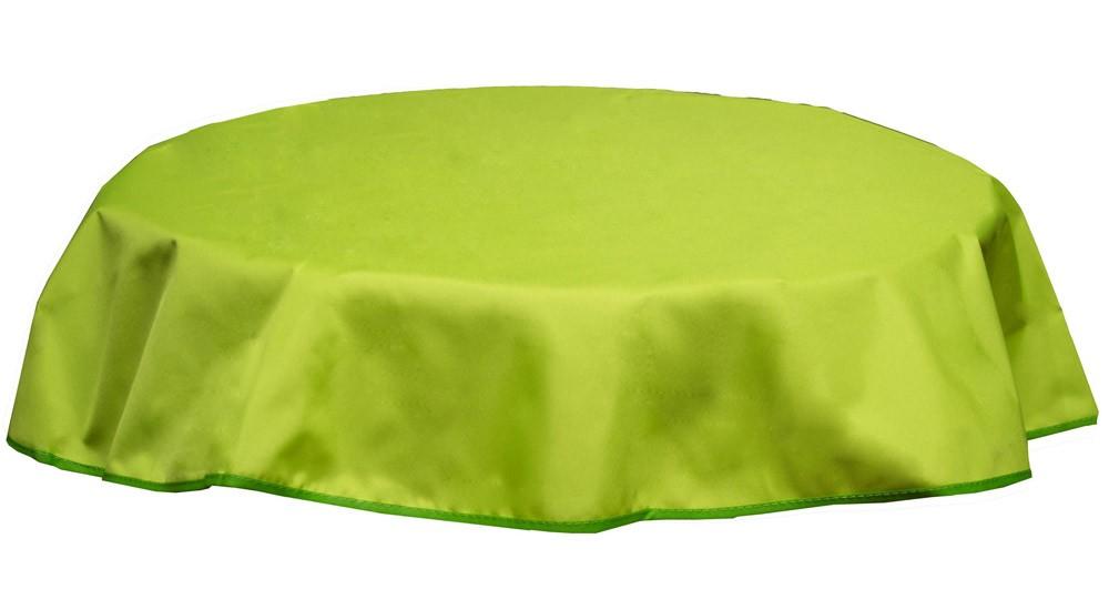 Tischdecke Beo Polyester wasserabweisend Ø160cm Des. PY306 hellgrün Bild 1