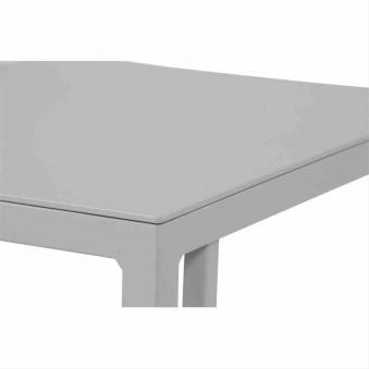 Beistelltisch / Gartentisch Siena Garden Ramo Alu weißgrau 36x43cm Bild 2