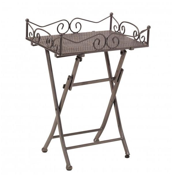 Beistelltisch / Seviertablett Toulouse Stahl eisengrau 51x36cm Bild 1
