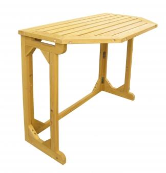 Gartentisch / Balkontisch Habau klappbar Kiefer 90x50cm Bild 1