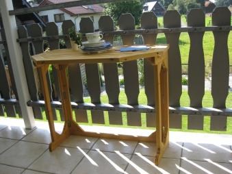 Gartentisch / Balkontisch Habau klappbar Kiefer 90x50cm Bild 3